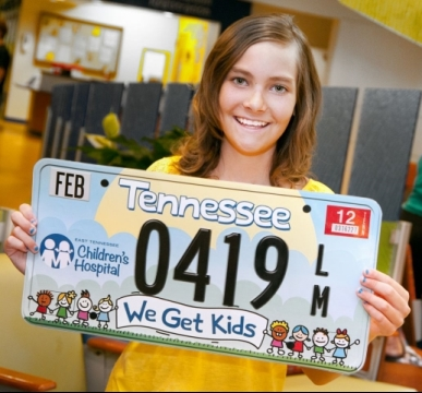 East Tennessee Children's Hospital specialized license plate