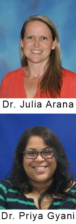 Dr. Julia Arana and Dr. Priya Gyani
