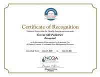 NCQA Certificate of Recognition
