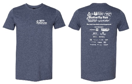 Butterfly Run 2020 T-Shirt Front and Back