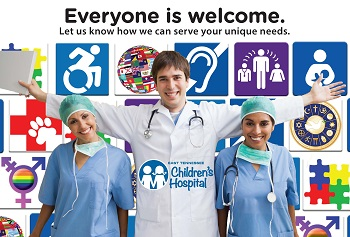Everyone is Welcome at East Tennessee Children's Hospital