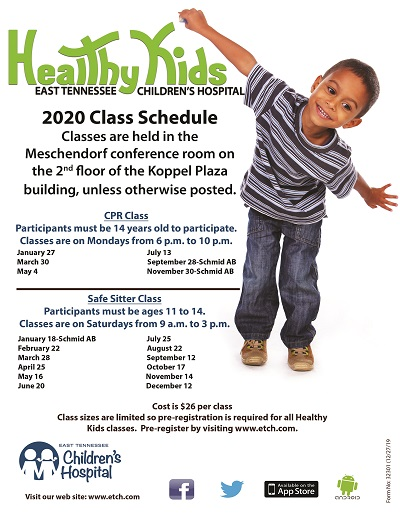 Healthy Kids 2020 Safe Sitters and CPR Classes Schedule
